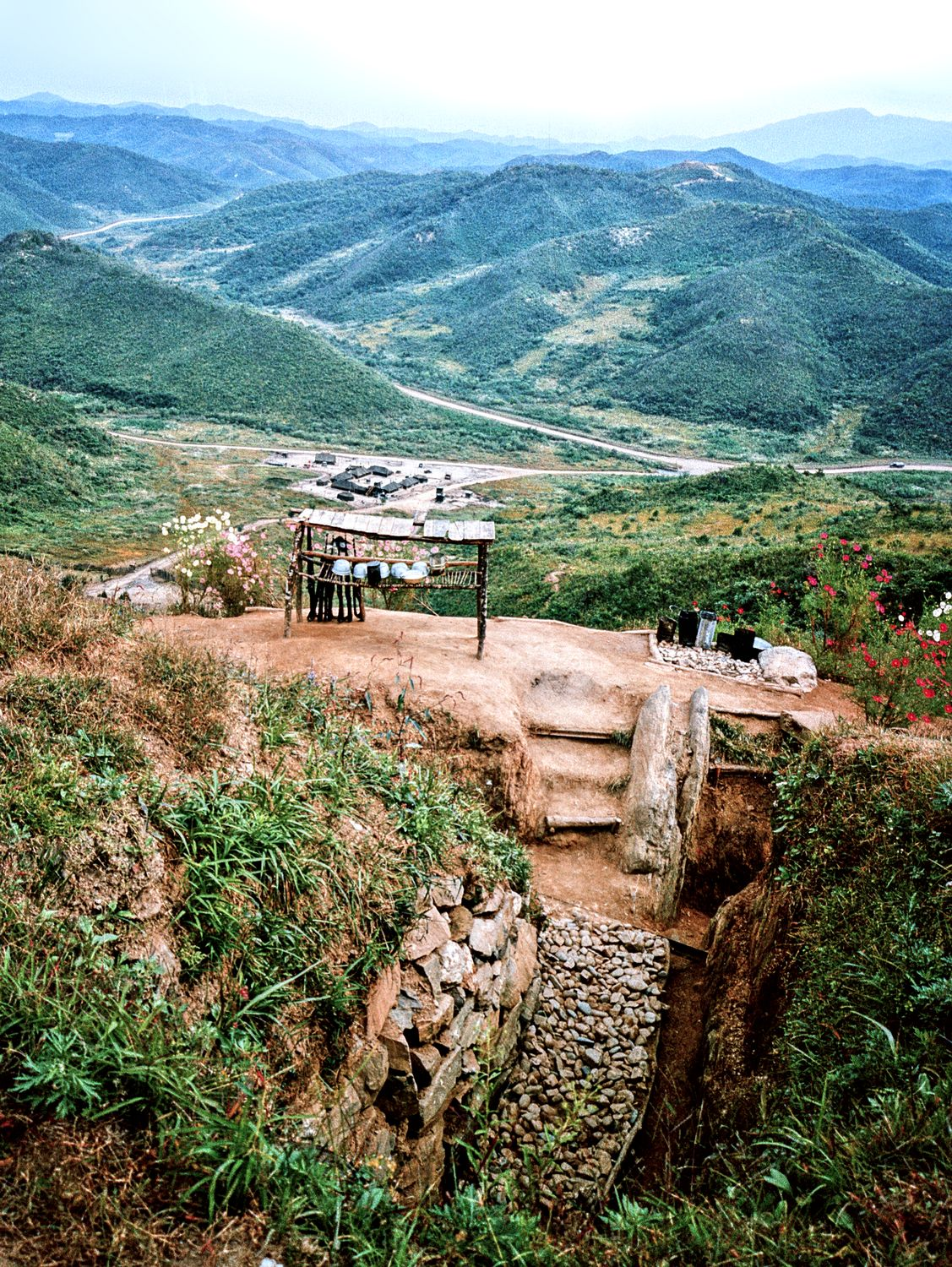 on the DMZ in Korea -- 1964 - entrance to a forward observation post - DMZ - Korea -1964 - Techno-Impressionist Museum - Techno-Impressionism - art - beautiful - photo photography picture - by Tony Karp