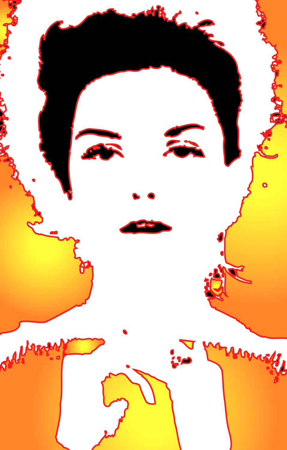Donna Mitchell - Portrait of Donna - Techno-Impressionist Museum - Techno-Impressionism - art - beautiful - photo photography picture - by Tony Karp
