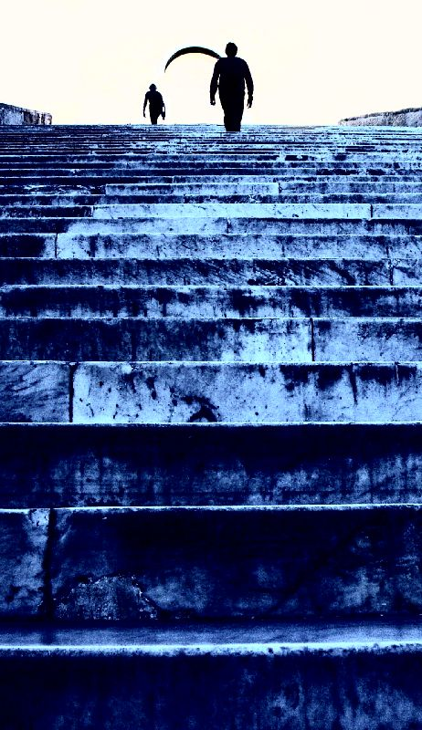 - Roman steps - Techno-Impressionist Museum - Techno-Impressionism - art - beautiful - photo photography picture - by Tony Karp
