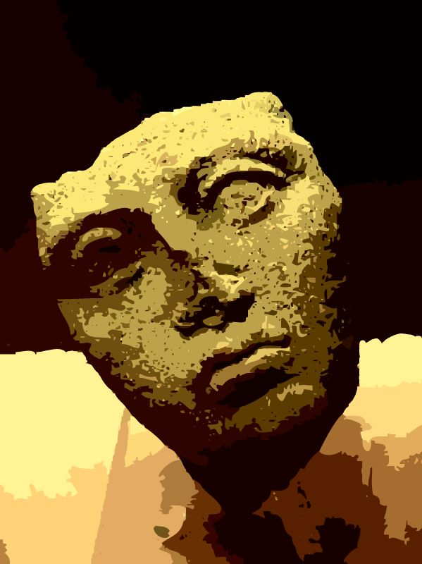 - Etruscan face - Techno-Impressionist Museum - Techno-Impressionism - art - beautiful - photo photography picture - by Tony Karp