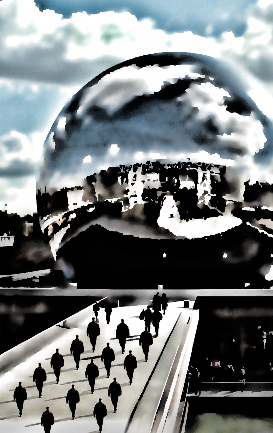 - La Géode - Techno-Impressionist Museum - Techno-Impressionism - art - beautiful - photo photography picture - by Tony Karp