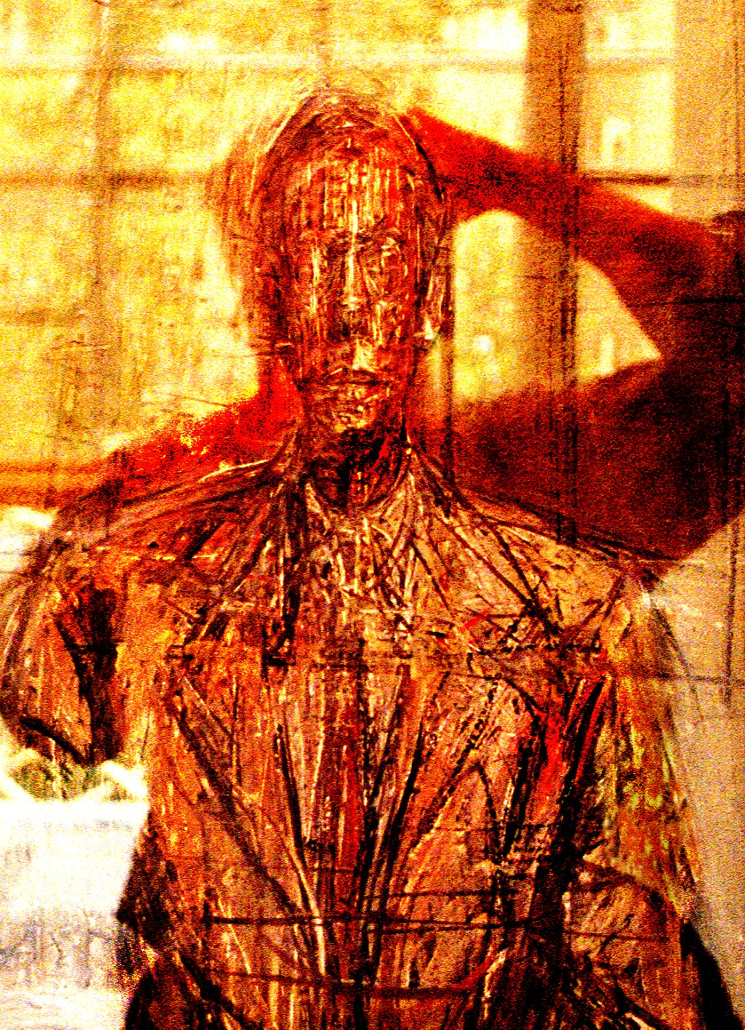 - Self portrait with Giacometti self portrait - Techno-Impressionist Museum - Techno-Impressionism - art - beautiful - photo photography picture - by Tony Karp