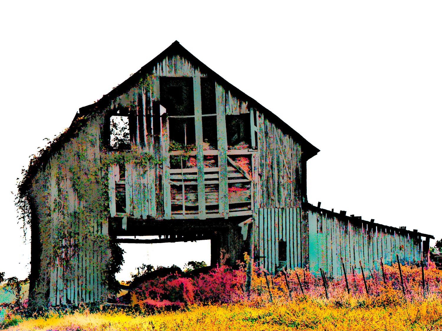 - Abandoned barn - #2 - Techno-Impressionist Museum - Techno-Impressionism - art - beautiful - photo photography picture - by Tony Karp